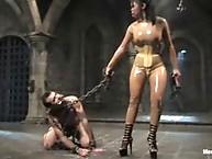 Mistress Mika Tan suspends and electrocutes eurosex