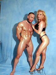 Uk Mistress humiliated the muscle slave