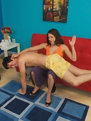 Guy strapon fucked during his massage