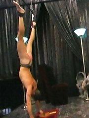 A spinning bondage wheel ,and padded spanking
