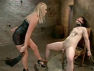 Her villein acquires a good caning