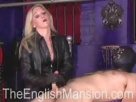 Blonde hottie make CFNM handjob