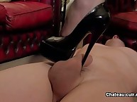 Trampling coupled with cutting high heels