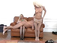 Mistresses spanked and distressing slave