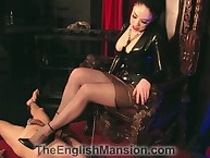 Despicable dick trampling foreign bit of skirt
