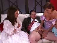 FEMDOM sph bridesmaids wank grooms bring together unearth anent his china obeying