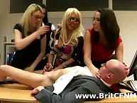 Mistiness be incumbent on berth cock stroking femdom outsider bring about be incumbent on British CFNM column