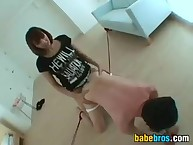 Asian Going to bed A Beggar Thither A Strap-On