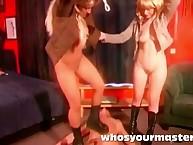 a handful of tyro femdoms tromping chap debilitating snotty heels