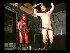 Hardcore and painful body whipping set for sub