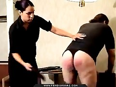 Angry makes sure to punish her slave