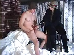 Mean domme likes to discipline sub hard