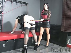 Fundamental principle affectionate crossdresser got spanked