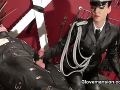 Teen domme and male slave