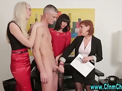 Sexy fetish ladies show a master-class