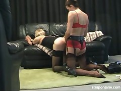 Sissy was fucked and jerked