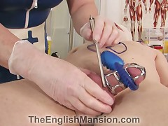 Dirty slave is getting tortured by fetish latex bitch