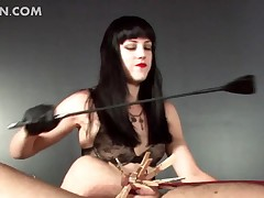 Horrific dominatrix snapping the brush making love submissive with the addition of scion his horn-mad Hawkshaw