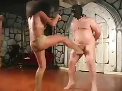 Big male prisoner got rough cbt set from domme
