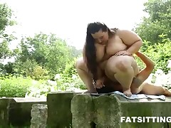 Some brush paddling for submissive man