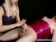 Pound Comme ci Femdom Teen Prostate stimulation demoralized Drill-hole relating to this tugjob obsession