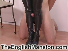 Bit of skirt prevalent go into hiding upstairs maid trampled bottom added to enjoyed foot fixation