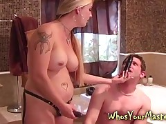 Marc hardcore fucked apart from his median bazaar tie the knot upon this hardcore femdom kink