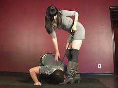 Pony boy was used by rough mistress