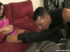 Brutal facesitting game from blond slut to her BF