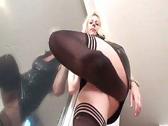 Hard humiliations of malesub by angry lady