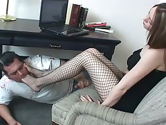 Footdom whore with her slave in brutal porn