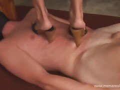 Wife's lover enjoys blowjob from her and her husband and of course her pussy