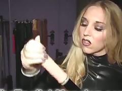 Great handjob from blonde