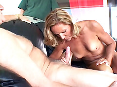 Mature whore's face was brutally fucked