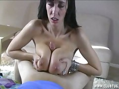 Cute Alia Janine tit fucking huge cock till cumming