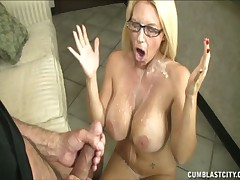 Nasty Charlee Chase loves playing with huge cocks