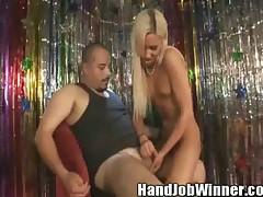 Sweet hottie Kasey Jordan jerking off big throbbing cock