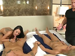Amazing foursome of amateur couples ends up in hardcore