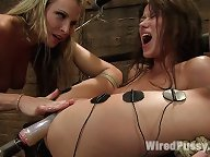 Harmony breaks in a newbie with bondage and electricity