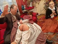 A maid was spanked otk