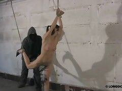 Extreme suspension and brutal whipping pain for Lola.