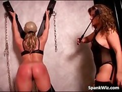 Spanking action between two hot lesbian