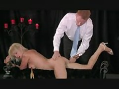 Blonde is Spanked