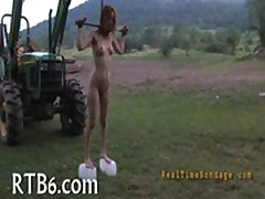 Facial torture for alluring babe