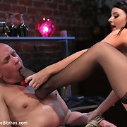Sophie Dee catches her husband masturbating then punishes ..