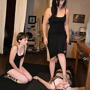 Mistress trampled slavegirl