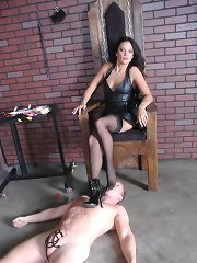 Whipping and cbt of male slave