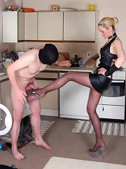 Male kicked and humiliated by feet