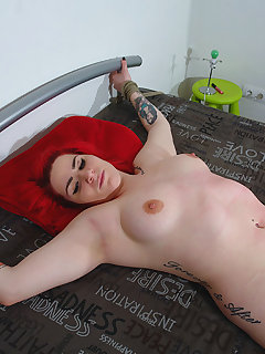 <!–-IMAGE_COUNT-–> of Redhead Lussy got hard whipping pain