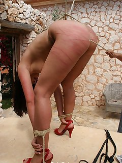 <!–-IMAGE_COUNT-–> of Real hot ass caning in bondage